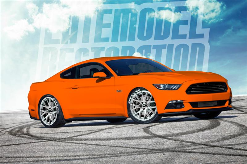 Rendering Our Competition Orange 2015 Mustang Gt