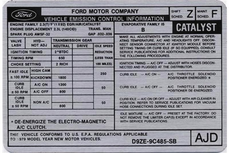 Mustang Emissions Decals on 2005 Ford 5 4 Engine Diagram